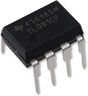 Texas Instruments TL081CP High Slew Rate JFET-Input Operational Amplifier Op-Amp IC Breadboard-Friendly DIP-8 (Pack of 5)