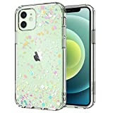 MOSNOVO iPhone 12 Pro Case, iPhone 12 Case, Colorful Confetti Pattern Clear Design Transparent Plastic Hard Back Case with TPU Bumper Case Cover for iPhone 12 Pro/iPhone 12 6.1 Inch