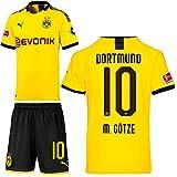 PUMA Borussia Dortmund BVB Heimset 2019 2020 Home Kit Trikot Shorts Kinder Mario Götze 10 Gr 164