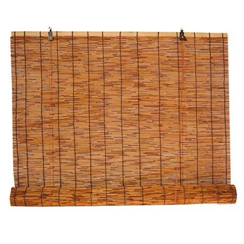 Bambus-Rollos,Reed-Vorhänge Home Sunshade,Hochwertige Handgewebte Retro-Strohjalousien,Wasserdichte Lichtfilter-Rollläden für den Außenbereich,Innenhof und Tür,mit Lifter(70x120cm/28x47in)