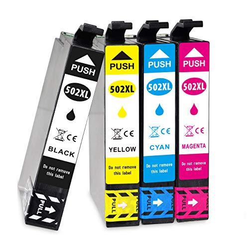 Jagute 502XL Compatibile Cartucce d'inchiostro Sostituzione per Epson 502 502XL per Stampante Epson Expression Home XP-5115 XP-5100 XP-5105, WorkForce WF-2860DWF WF-2865DWF F2865DWF