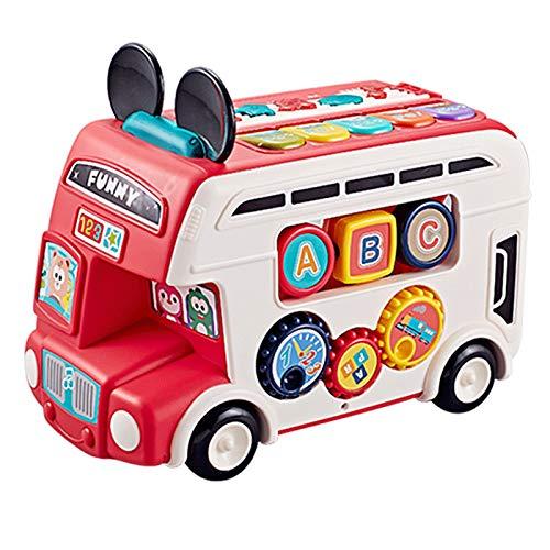DUTUI Autobús Escolar Multifuncional para Niños, Autobús Escolar, Juguete Educativo, Coche De Inercia, Aprendizaje De Simulación, Educación Temprana, Coche Educativo