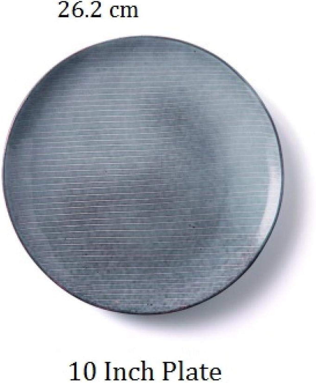 Assiette en céramique nordique @ 10 pouces P