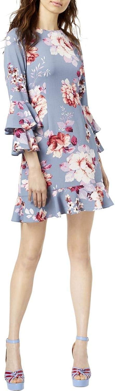 Jill Stuart Womens Floral Print Ruffled Mini Dress