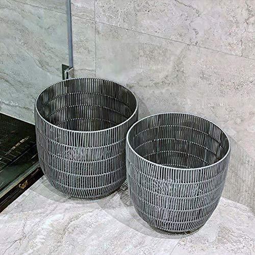 HSGei Wäschekorb mit Griff Leinen Wäschekorb Einbau-Liner mit abnehmbarem und Nützliches Upgraded Folding Wäschekorb Spielzeug-Speicher-Grid-Muster,Large