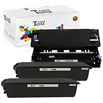 1 PACK/2 PACK/4 PACK/10 PACK Compatible with Brother TN460 Toner Cartridge; Black Drum Unit for Brother DR400; 2 Toner + 1 Drum