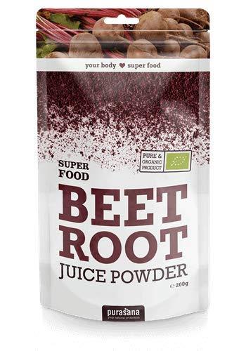 Purasana - Super Food - 200g - Végétarienne - Supplément 100{0fadb5e500b0a45cd4f875df65ce212056f6b22390766108296a1cf2ca8a3942} naturel - Rote Beete