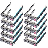 Heretom 651687-001 REV 4.010 2,5 Zoll Festplattenrahmen SFF Tray Caddy Sled 651699-001 für HP G9 Gen9 DL380p DL380e DL360p DL360e DL385 DL388 DL380 DL160 DL580 ML350e ML310e SL250s - mit Chips