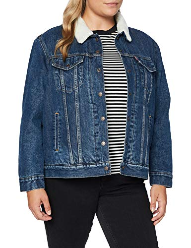 Levi's PL Ex BF Sherpa Trucker Giacca, Rough And Tumble, 2 XX Donna