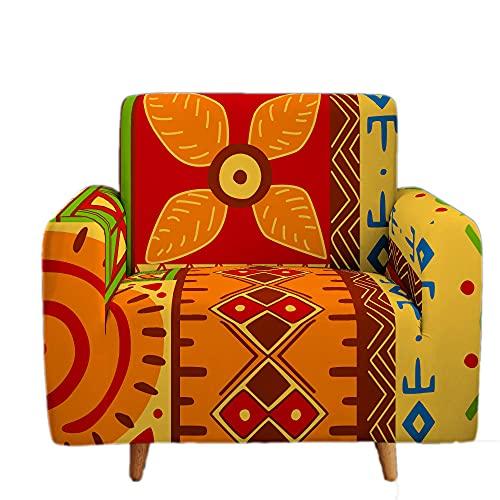 Funda Elástica para Sofá de 1/2/3/4 Plazas, Chickwin Universal 3D Estilo Africano Antideslizante Tejido Elástico Lavable Extensible Cubierta Protector de Sofá (Estilo Africano 2,4 plazas)