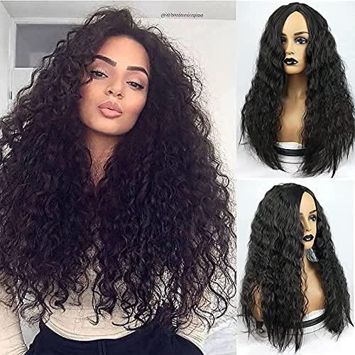 KTZAJO Pelucas de encaje frontal rizado cabello humano con línea de pelo pre plucked, 4 x 4, cierre de encaje, pelucas Jerry rizado de cabello humano para mujeres negras Pelucas
