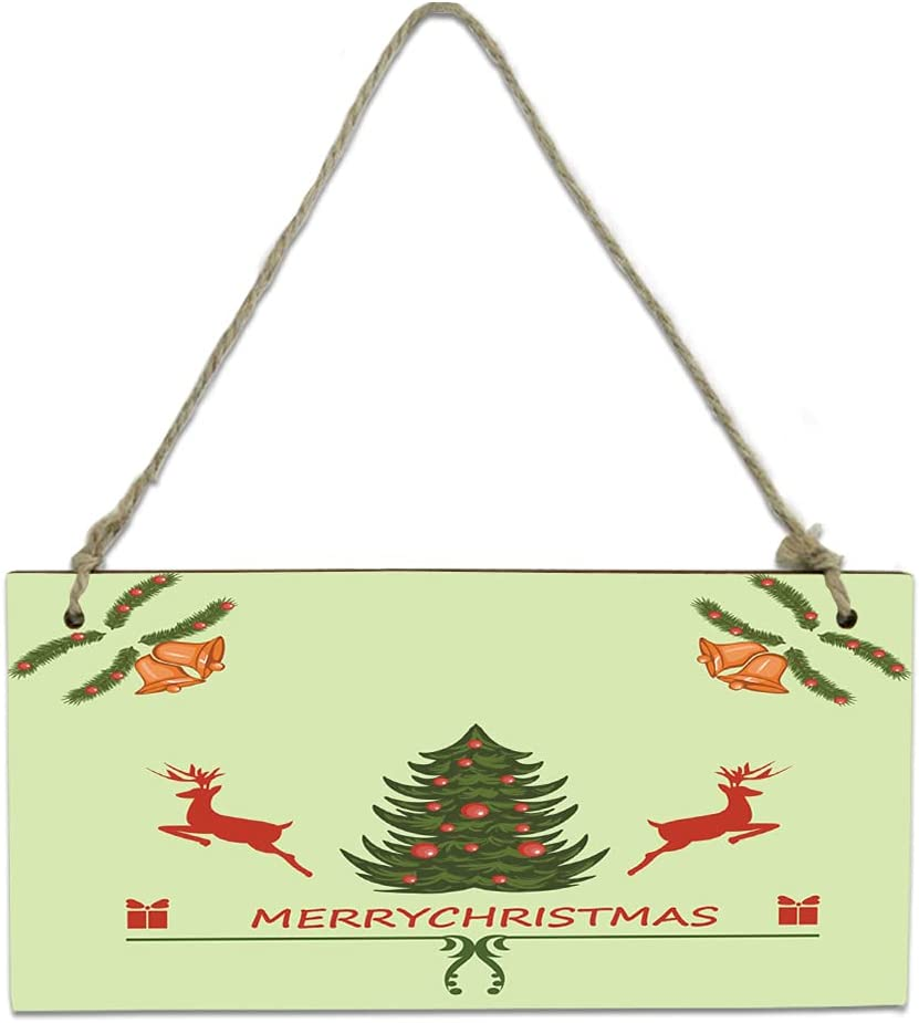 Credence Wood Plaque Wall Hanging Sign for Bathroom Reindeer Chri Luxury Kitchen