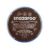 Snazaroo - Pintura facial y corporal, 18 ml, color marrón oscuro