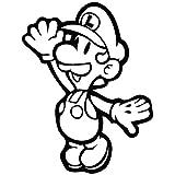 Super Q Mario Brother Luigi - Vinilo adhesivo para pared de coche, portátil, teléfono móvil