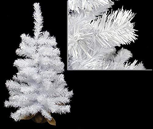 Darice 31533655 Unlit Snow White Artificial Christmas Tree, 2'