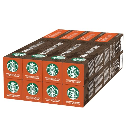 Starbucks Breakfast Blend by Nespresso, Medium Roast Kaffeekapseln, 80 Kapseln, 448 g