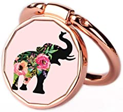 Phone Ring Holder Stand Rose Gold Oddss Cute Elephant Universal Thin Finger Ring Grip 360° 180°Flip Ring Stand Grip Mount Compatible for Smartphones