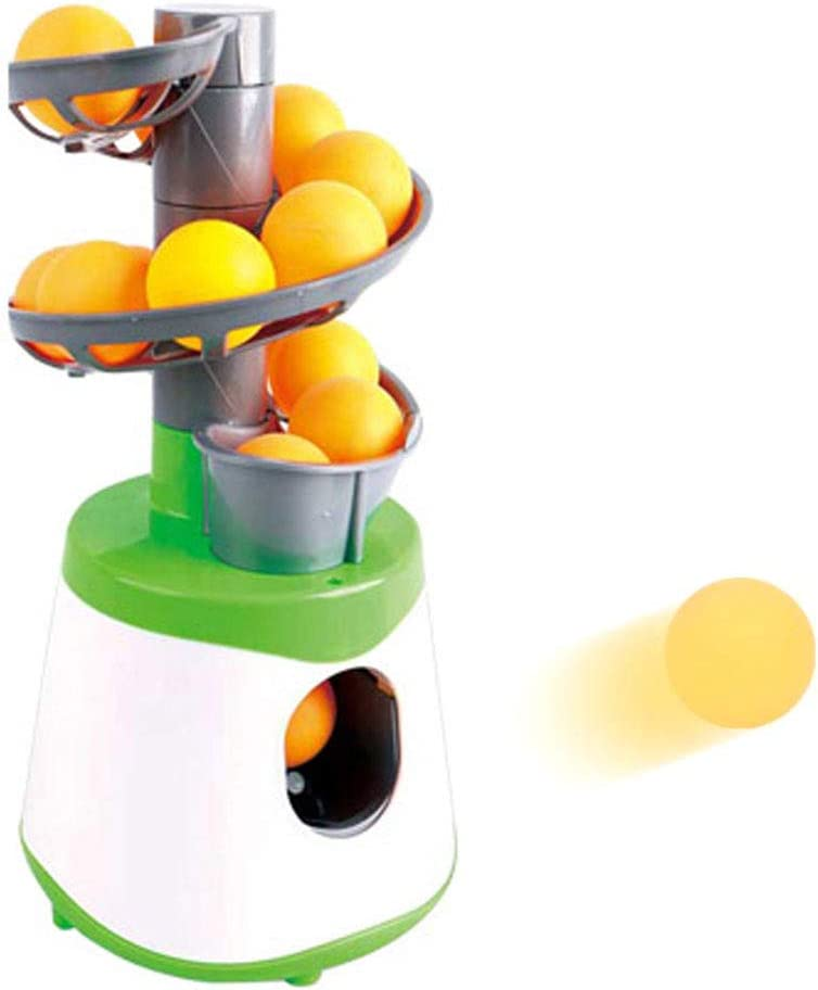NANANA Lanzador de Tenis de Mesa, Máquina de Pelota de Tenis de Mesa Lanzador Portátil de Ping Pong Lanzador Ejercitador para los Amantes del Principiante de Ping-Pong, 30.5x15x15cm