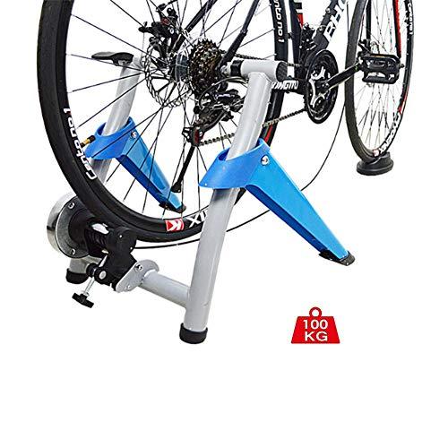 NNZZY Rollentrainer Für Rennrad Magnetisch Widerstand Klappbar Inkl. Schnellspanner & Vorderradstütze Heimtrainer Fahrrad Für Indoor Fahrradfahren Zu Hause