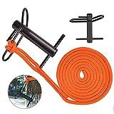 SurmountWay Port Wrap Sling with Port A Wrap, Whoopee Sling 16 ft, Port Wrap Eye Sling 3/4 Inch,Whoopie Sling Arborist Rope 4409LBS Weight Capacity(Black)