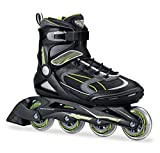 Bladerunner Men's Advantage Pro XT Recreational Skate with Abec 7 Skate Bearings, 80mm/Size 8, Black/Green