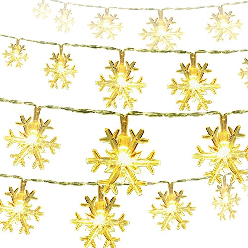 Snowflake Christmas String lights Battery Operated
