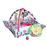 Manta Actividades Bebe con M/úsica Luces y 20 Bolas TONGJI Gimnasio Pataditas Bebe Alfombra de Juegos Manta de Juego para Bebes Recien Nacidos 108 x 99,5 x 51cm