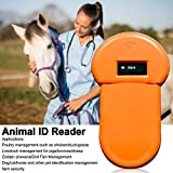 Portable Pet Reader with Backlight Screen, Handheld I SO FDX-B Scanner Pet Dog Animal Microchip Reader ID Reader,Portable Pet Microchip Scanner(134.2Khz)
