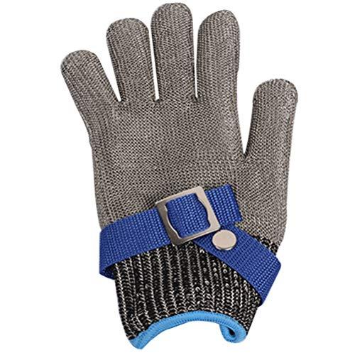 Schnittfeste Handschuhe-XHZ Schneidfeste Handschuhe Edelstahldraht Metallgitter Metzger Sicherheitsarbeitshandschuhe zum Schneiden und Schälen (Silber , Größe: XS - XXXL (Size : Size S)