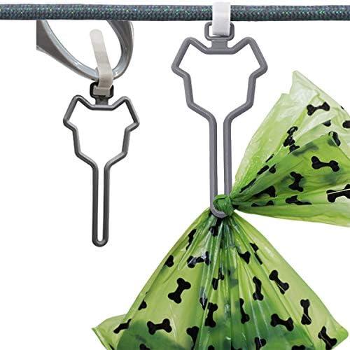 MISSJOY Waste Bag Carrier Dog Poop Bag Holder Handy and Easy Use Doggy Leash Bag Carrier 2pcs product image