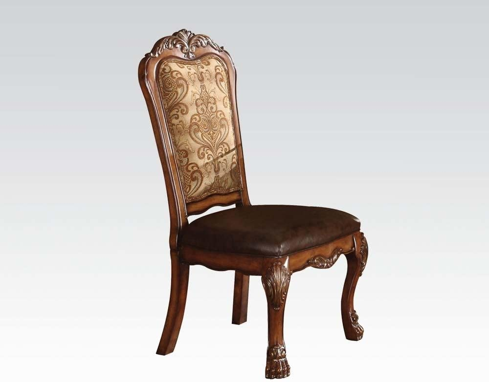 ACME 60012 Dresden Side Chair Cherry of Max 77% OFF 2 Our shop OFFers the best service Finish Set Oak