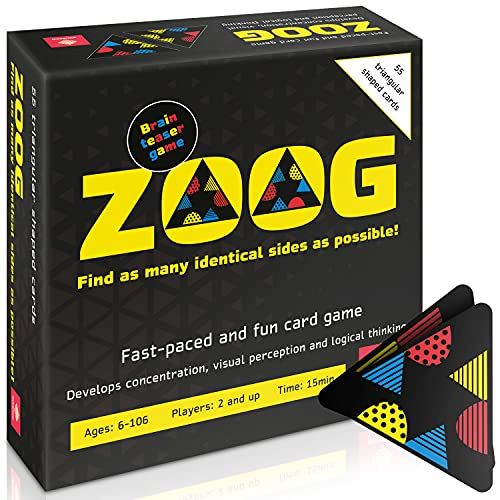 ZOOG Family Card Game - Fun Brain Booster Card Games for Families and Kids - Boost Concentration...