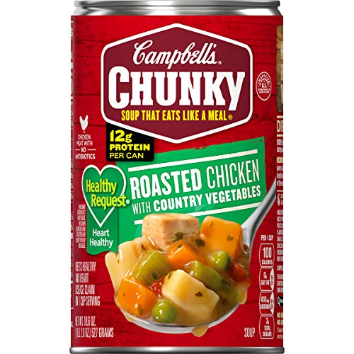 Campbell's Chunky Healthy Request Roasted Chicken with Country Vegetables Soup, 18.6 oz. Can