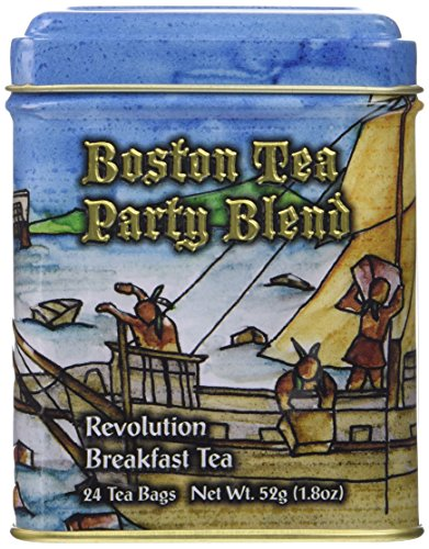 24 Boston Tea Party Commemorative Earl Grey Tea Bags in a Decorative Collectible Tin.
