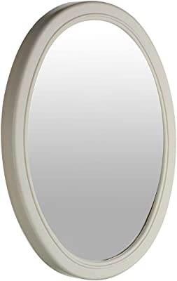 Fantasy Mirror Oval Shape Wall Mirror with Frame (Plastic_Ivory_10 x 13 Inch)