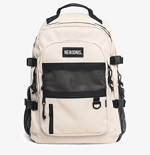 NEIKIDNIS BSOLUTE BACKPACK-037ASB06 リュックバッグバックパック大容量旅行通学遠足ユニセックスバッグ多機能バッグ(海外直送品) (light beige)
