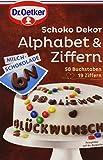 Dr. Oetker Schoko Dekor Alphabet & Ziffern Milchschokolade, 58 g
