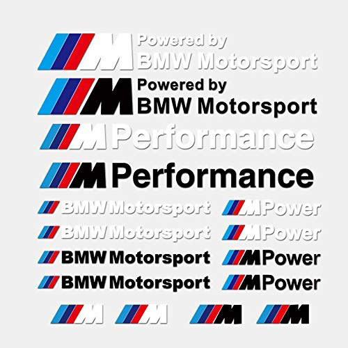 M Performance Motorsport Car Emblem Sticker Set Decal for BM