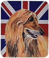 Caroline's Treasures Afghan Hound with English Union Jack British Flag Mouse Pad/Hot Pad/Trivet (SC9814MP) [並行輸入品]
