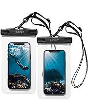 Spigen Waterdichte telefoonhoes, universeel, premium pvc, IPX8, 2 stuks, A601, compatibel met iPhone, Galaxy, Xiaomi, Google Smartphones