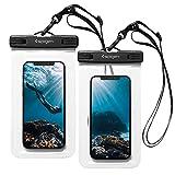 Spigen AquaShield Wasserdichte Handyhülle Universal Premium PVC mit IPX8 2 Pack A601 kompatibel mit iPhone, Galaxy, Xiaomi, Google Smartphones