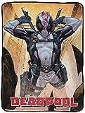 Jay Franco Marvel Deadpool X-Force Throw Blanket -...