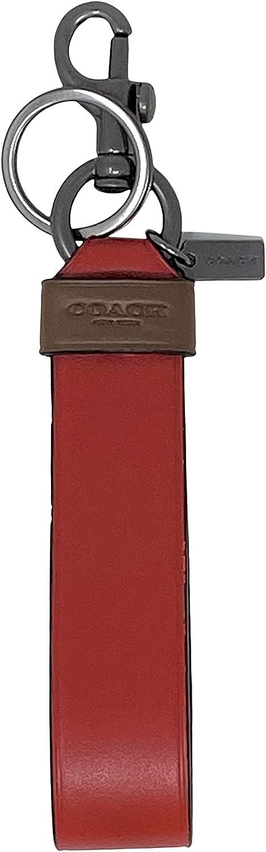 Coach Men's Large Loop Key Fob in Colorblock Bright Cardinal Style N0.C4229