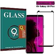 Samsung Galaxy S9 Plus Panzerglas Schutzfolie, Tjicui Hohe Qualität 3D Displayschutzfolie [Ultra Klar] [Anti-Kratzen] [Anti-Fingerabdruck] [Blasenfreie Installation] Gehärtetes Glas Panzerglas Folie für Samsung Galaxy S9 Plus