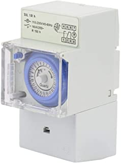 Time Switch, WALFRONT 110-230v SUL181H 24 Hours Analog Mechanical Timer Manual/Auto Controller Time Switch