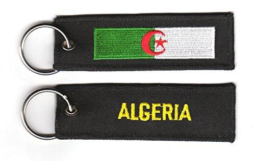 FLAGGENMAE Schlüsselanhänger Algerien Anhänger Fahne Flagge