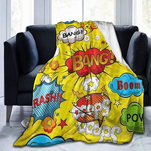 QIUTIANXIU Mantas para Sofás de Franela 150x200cm Bang Boom Manta para Cama Extra Suave