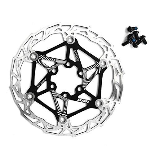 Freno de disco flotante de acero inoxidable para bicicleta, 160 mm, giratorio; disco con pernos para ciclismo de montaña con pernos