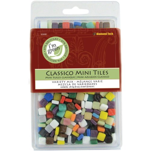 Diamond Tech Crafts Glas Classico Mini Tile Mix 8oz assortiment kleuren