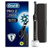 Oral-B PRO 22500 CrossAction Cepillo de dientes eléctrico recargable con tecnología de Braun, 1 mango negro, 2 modos, 1 cabezal de recambio y 1 estuche de viaje exclusivo